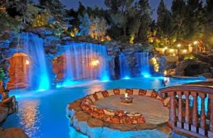 Outdoor Entertainment And Waterfalls