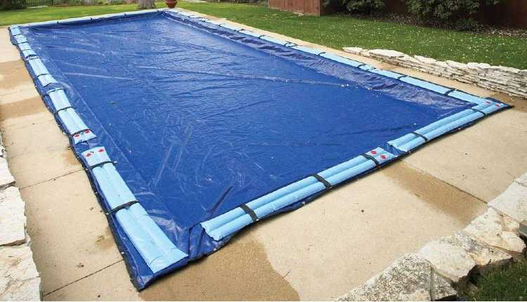 covering swimming pool for winter