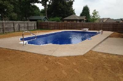 final grading of new pool