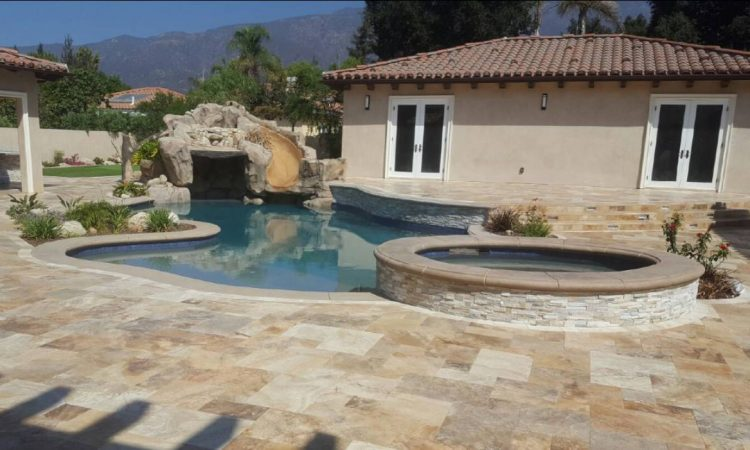 swimming pool with water slide- enciso's pool construction- hesperia ca